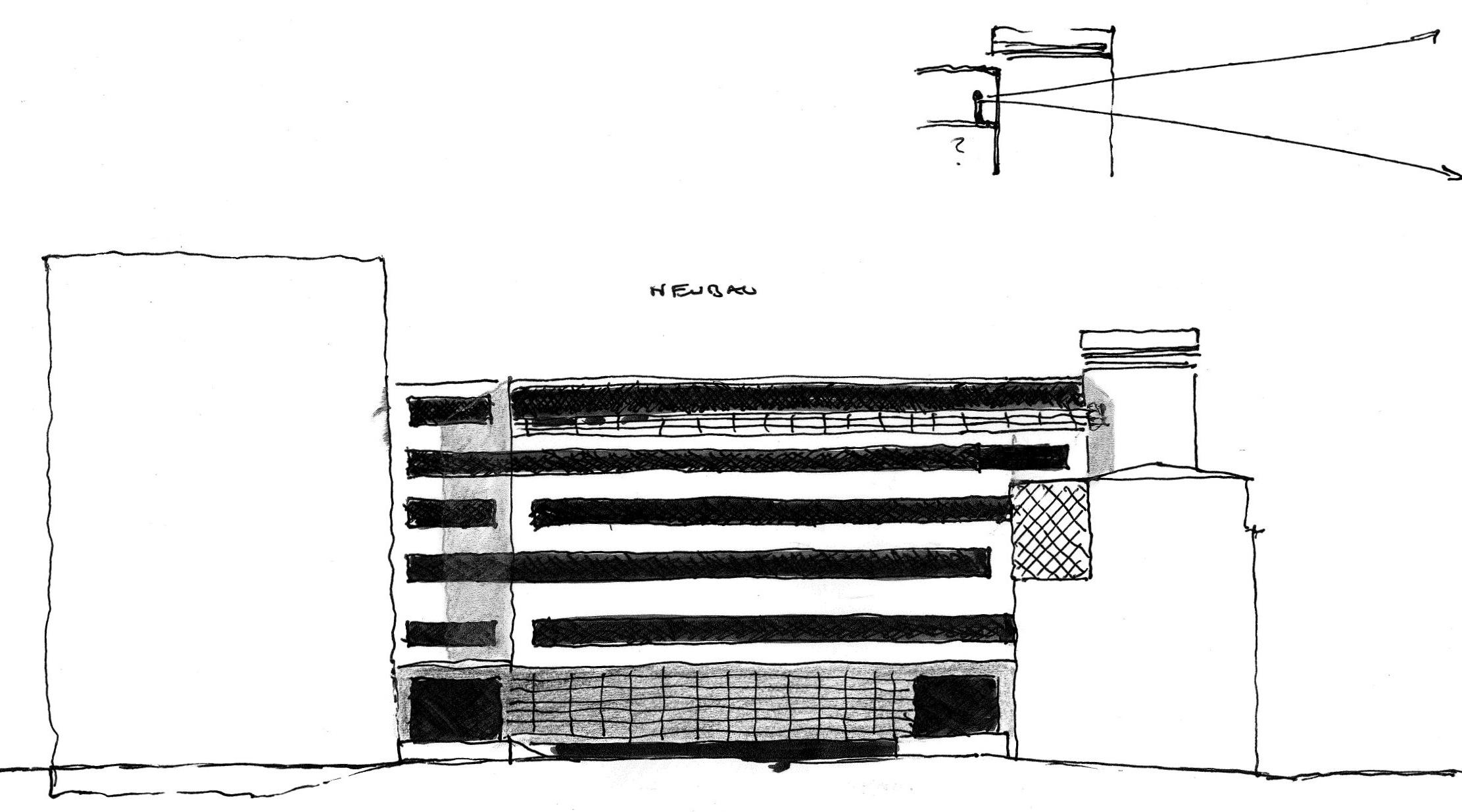 Entwurf zur Erweiterung der Ambulanz und Liegendanfahrt Franziskus Hospital, Bielefeld